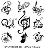Musical Design Elements Set