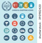 cargo and shipping icon set... | Shutterstock .eps vector #393982420