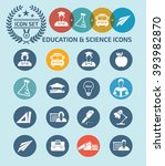education and science icon set... | Shutterstock .eps vector #393982870