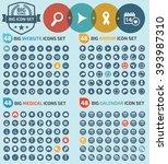 big icons website arrows... | Shutterstock .eps vector #393987310