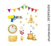 vector of thai new year... | Shutterstock .eps vector #393993454