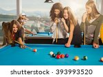 Billiards game. group of...