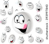 grinning and smiling drop of... | Shutterstock .eps vector #393997840