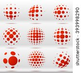 set of abstract dotted vector... | Shutterstock .eps vector #393998290