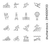 outline icons for extreme... | Shutterstock .eps vector #394000933