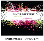 grunge banner with an inky... | Shutterstock .eps vector #39400174