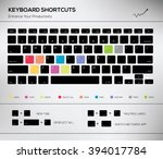 computer keyboard infographic... | Shutterstock .eps vector #394017784