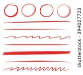 brush stroke circle highlighter ... | Shutterstock .eps vector #394027723