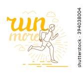 vector running and sport... | Shutterstock .eps vector #394038004
