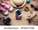 travel accessories costumes.... | Shutterstock . vector #394047238