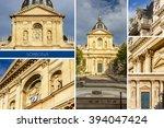 sorbonne college. old parisian... | Shutterstock . vector #394047424