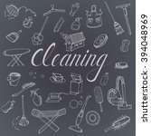 icons for cleaning services ... | Shutterstock .eps vector #394048969