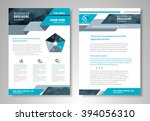 front and back page brochure... | Shutterstock .eps vector #394056310