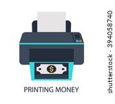 printing money | Shutterstock .eps vector #394058740