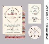 wedding set in boho apache...   Shutterstock .eps vector #394061224