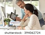 business people working... | Shutterstock . vector #394062724