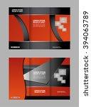 vector empty tri fold brochure... | Shutterstock .eps vector #394063789