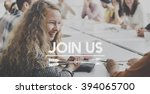 join us register sign up concept | Shutterstock . vector #394065700