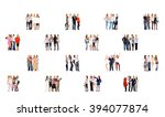 corporate teamwork people... | Shutterstock . vector #394077874
