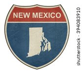 grunge new mexico american... | Shutterstock . vector #394083910