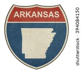 arkansas american interstate... | Shutterstock . vector #394084150