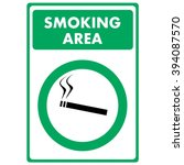 smoking area. sign | Shutterstock .eps vector #394087570