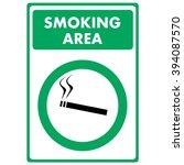 smoking area. sign | Shutterstock .eps vector #394087570