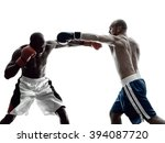 Men Boxers Boxing Isolated...