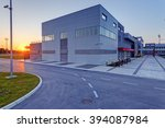 details of gray and red facade... | Shutterstock . vector #394087984