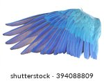 Small photo of Angel wings isolated on white background. This has clipping path.