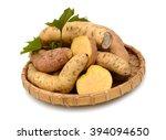 Sweet Potato Isolated On White...