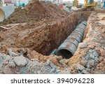 Concrete Drainage Pipe On A...