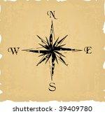 black grunge compass. vector... | Shutterstock .eps vector #39409780