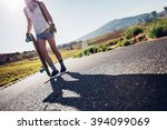 cropped shot of young woman... | Shutterstock . vector #394099069