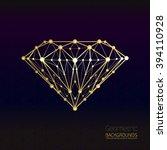 geometrical shape of the gold... | Shutterstock .eps vector #394110928