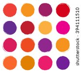 collection of colored spots | Shutterstock . vector #394111510