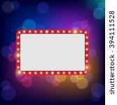 neon shining bigboard in retro... | Shutterstock . vector #394111528