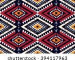 geometric ethnic oriental... | Shutterstock .eps vector #394117963