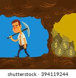 never give up. vector flat... | Shutterstock .eps vector #394119244