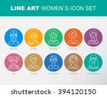 modern thin contour line icons... | Shutterstock .eps vector #394120150