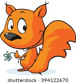 cute vector red squirrel... | Shutterstock .eps vector #394122670