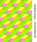 abstract isometric candy color... | Shutterstock .eps vector #394125664