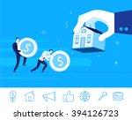 flat design vector concept... | Shutterstock .eps vector #394126723