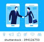 flat design vector concept... | Shutterstock .eps vector #394126753