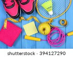 pair of sport shoes  fresh... | Shutterstock . vector #394127290