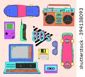 80's vector elements collection | Shutterstock .eps vector #394138093