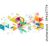 abstract colorful and creative... | Shutterstock .eps vector #394147774