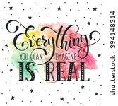 inspiring lettering black on... | Shutterstock .eps vector #394148314