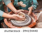 mother and daughter mold with... | Shutterstock . vector #394154440