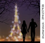 Vector Silhouettes Of Couple...